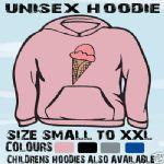 ICE CREAM CONE FUNNY UNISEX HOODIE HOODED TOP